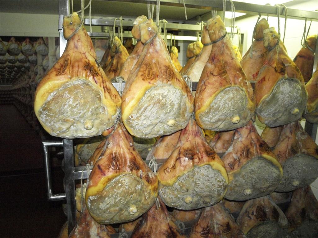 zájezdy do Tálie - Itálie - exkurze do výrobna parmské šunky, a ta teda je!